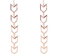 European Style Brief Alloy Arrow Joint Earrings