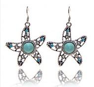 Vintage Wholesale Women Sea Star Turquoise Drop Earring