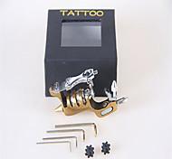 fornecimento de máquinas de tatuagem tatuagem liga sol metralhadora giratória 6 cores sortidas