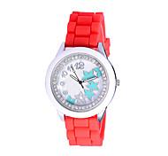 relojes de vestir reloj impermeable nuevo llega el lujo ocasional de silicona Reloj mujer relojes reloj femenina