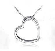S925 Silver Pendant Silver Pendant Heart Pendant Heart-Shaped Silver Pendant