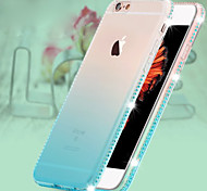 Ice Color Luxury Giamond Gradient Green TPU Material Phone Case for iPhone 6Plus/6SPlus (Color optional)
