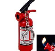 Metal Material Fire Extinguisher Design Naked Flame Inflatable Single Flame Lighter