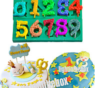 Big Size Number DIY Silicone Chocolate Pudding Sugar Ice Cake Mold Color Random