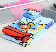 3 piezas 100% algodón juego de toallas patrón de dibujos animados