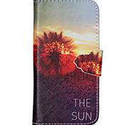 aquí viene el cuero de la PU de la cubierta completa del cuerpo patrón de sol con soporte para el iphone 5 / iphone 5s