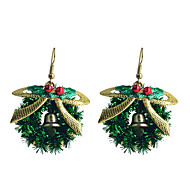 European Style Sweet Bowknot Christmas Loop Gold Plating Earrings