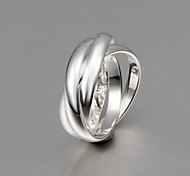 New  Fashion Size 8 Tricyclic Sterling Silver Ring Band Rings For Woman & Lady