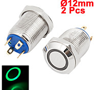 10PCS Car LED Lights Without Lock Button Switch 12 MM Red Blue Green Lock Button Switch 12V