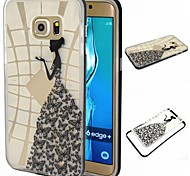 Girl Pattern TPU+PC Bumper Frame Protective Back Case for Samsung Galaxy S5/S6/S6 edge/S6 edge Plus
