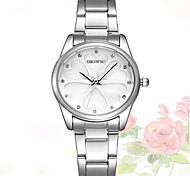 Skone 5048 Heart-shaped Pattern Quartz Watch Diamond Shell Face Lady Wristwatch Watch For Women