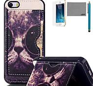 lexy® gafas de sol negras patrón del tpu suave caja trasera con protector de pantalla y el stylus para el iphone 5 / 5s