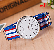 Men's Watch Fashion Watch Simple Style Silver Round Dial Wrist Watch Cool Watch Unique Watch