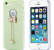 Candy Color Glitter Butterfly TPU Clear Cover for iPhone 5/5S(Assorted Colors)