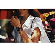 lusso vero e proprio orologio da polso in pelle banda di sostituzione della cinghia di banda con adattatore chiusura per la vigilanza