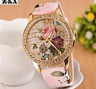 Böhmen Diamant Blumen Quarz Analog Halskette Uhr der Frauen (verschiedene Farben)