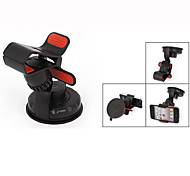 Black Plastic Lock Release Design Phone GPS Holder Support for Car