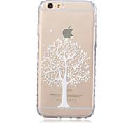 Teste padrão da árvore de vida transparente textura do material TPU para iphone 6 / 6s bf