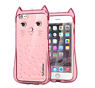 mignon beau chat de protection Housse en TPU dur pour Apple iPhone 6 plus / 6s plus (couleurs assorties)