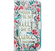 Flowers and Trees Pattern Card Stand Leather Case with Card Slot for iPhone 6 Plus / 6S Plus