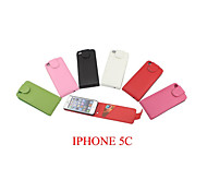 PU Leather up down flip mobile skin case Cover Card slot For iPhone 5C(Assorted Color)