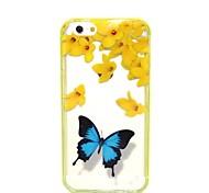 2-in-1 blauer Schmetterling Muster TPU rückseitige Abdeckung mit pc Autostoßfest Hülle für iPhone 6 / 6S