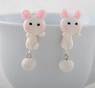 Z&X® Fashion Cute  Animal Rabbit Silicone Earring Stud Earrings Daily / Casual 2pcs