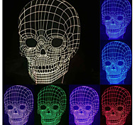 Visual 3D Skull Model Mood Atmosphere LED Decoration USB Battery Table Lamp Colorful Gift Night Light