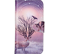 Birds Pattern PU Leather Phone Case For iPhone 5C