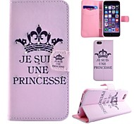 Diamond Painted An Crown PU Phone Case for iphone 6/6S