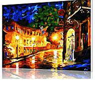 DIY Digital Oil Painting  Frame Family Fun Painting All By Myself  The Street Lights  X5036