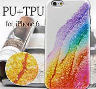 Corner of the Rainbow Pattern High Quality PU Leather and TPU Back Case for iPhone 6/iPhone 6S