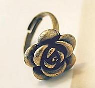 Korean Jewelry Retro Alloy Rose Ring