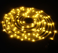 King Ro solar 24.6ft 50LED Wedding Party Decoration Light Outdoor Waterproof Rope Lights