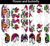 1pcs 3D Butterfly Flower Beauty Nail Sticker
