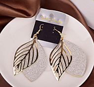 Top Quality European Style Hollow Out Leaf Shape Drop Earrings for Wedding Party