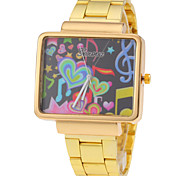Unisex Heart Pattern Square Dial Steel Quartz Watch Wrist Watch Cool Watch Unique Watch