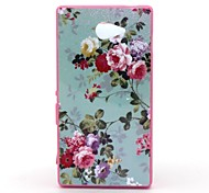 2-in-1 Wave Point To Spend Pattern PC Back Cover with PC Bumper Shockproof Hard Case for Sony Xperia M2