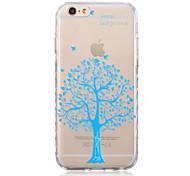 modèle d'arbre bleu transparent TPU souple pour iPhone 6s 6 plus / iphone en plus