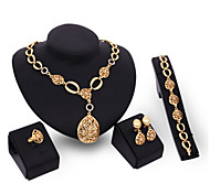 Bijoux Colliers décoratifs / Boucles d'oreille / Anneaux / Bracelet Mariage / Soirée Alliage 1set Doré Cadeaux de mariage