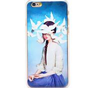 Tauben Mädchen Muster transparent pc Schutzhülle für iPhone 6
