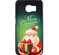 Christmas Santa Claus and Gift Pattern PC Hard Back Cover Case for Samsung Galaxy S6