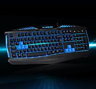 RAJFOO X-MAN Fashion Luminous Keyboard Stunning Gaming Keyboard