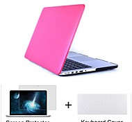 "3 in 1  Leatherette top Surface Hard Shell Cover Case+Keyboard Cover+Screen protector for  Macbook  Air 11""/13"""