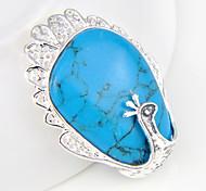 moda in avanti unico turchese gemma blu pavone 925 ciondoli in argento per collane di nozze 1pc quotidiano