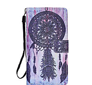 Campanula  Pattern PU Leather Phone Case For Huawei  P8 Lite