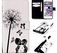 Child Dandelion  Embossed PU Leather Holster for iPhone 5/5S