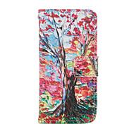 дерево шаблон PU кожаный чехол для всего тела с слот для карт и для iPhone стоят 6 / 6с