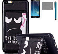 LEXY® Don't touch Pattern Soft TPU Case with Screen Protector and Stylus for iPhone 6/6S Plus