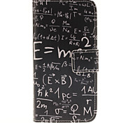 Mathematics Writing Pattern PU Leather Full Body Cover with Stand for Samsung Galaxy J2/Galaxy J3